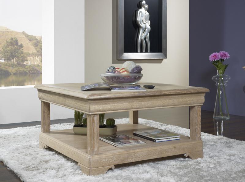 De Table Basse Bruno Trés Louis Carrée Chêne Style Belle En Philippe ulKcT31JF5
