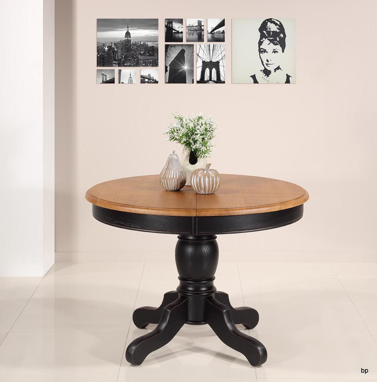 Table ronde pied central   en Chêne Massif de style Louis Philippe DIAMETRE 105 SEULEMENT 1 DISPONIBLE