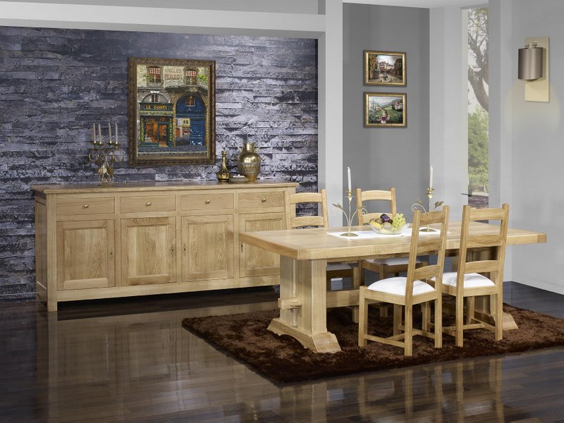 Table Monastere Rectangulaire 220x100 Realisee En Chene Massif 2