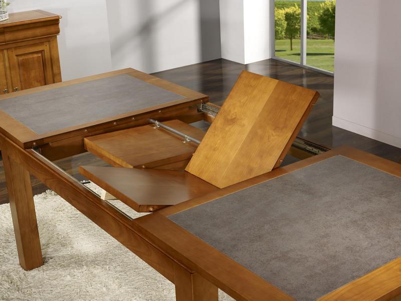 Table De Repas Aurore Realisee En Merisier Massif Contemporaine Plateau Ceramique Largeur 160 Cm