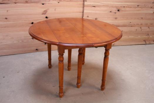 Table Ronde A Volets Diametre 110 De Style Louis Philippe En