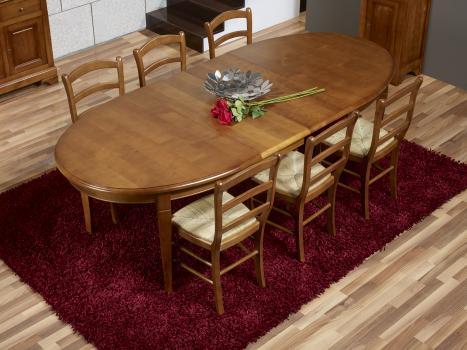 Table Ovale De Salle A Manger Estelle Realisee En Merisier Massif