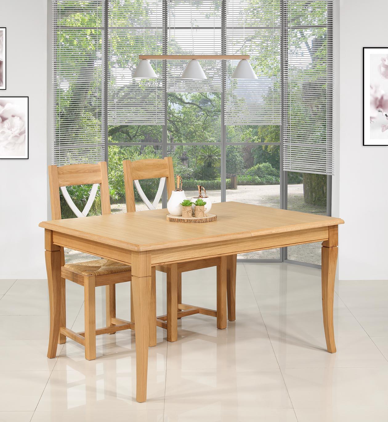 Table de repas Jérôme  en Chêne de style Louis Philippe 140x100 SEULEMENT 1 DISPONIBLE