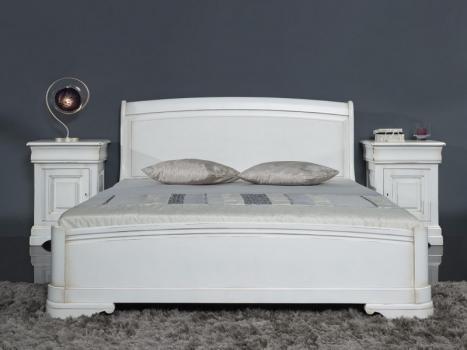 Lit Clémence de style Louis Philippe  en Merisier Massif COUCHAGE 140*190