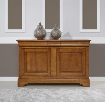 Buffet 2 portes 3 tiroirs   en merisier massif de style Louis Philippe