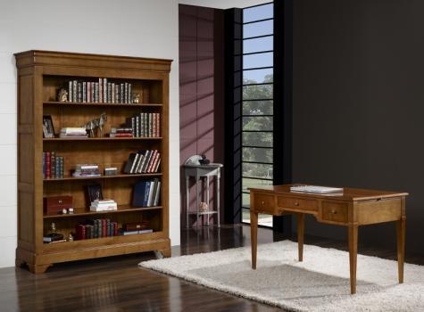 Bibliothèque Sarah  en chêne massif de style Louis Philippe 4 étagères