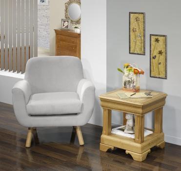 Bout de canapé ou Table d'appoint   en chêne de style Louis Philippe
