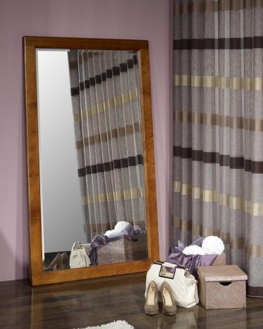 Miroir glace biseautée  en Merisier Massif 90*70