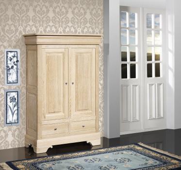 Bassette 2 portes 3 tiroirs réalisée en Chêne Massif de style Louis Philippe Finition Chêne Brossé