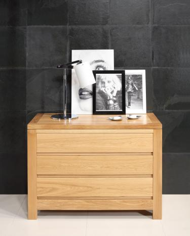 Commode 3 tiroirs  en Chêne Massif de style Contemporain Finition Chêne Naturel