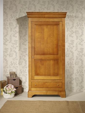 Bonnetière 1 porte 1 tiroir Sophie  en Merisier massif de style Louis Philippe SEULEMENT 1 DISPONIBLE