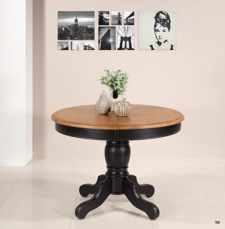 Table ronde pied central Anna réalisée en Chêne Massif de style Louis Philippe DIAMETRE 105 SEULEMENT 1 DISPONIBLE