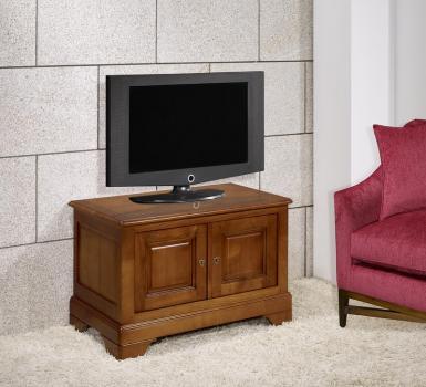 Meuble Tv 2 portes Maryse  en Merisier Massif de style Louis Philippe