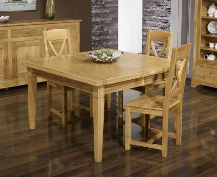 Table de repas carrée  en Chêne Massif 150x150