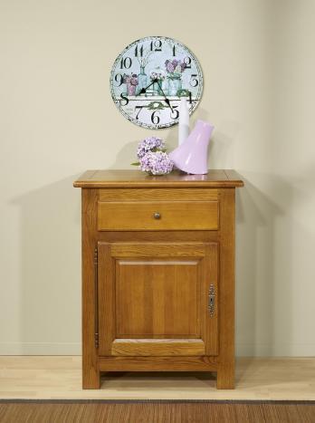 Confiturier 1 porte 1 tiroir  en Chêne Massif de style Campagnard 1 seul disponible Finition Chêne Doré vieilli