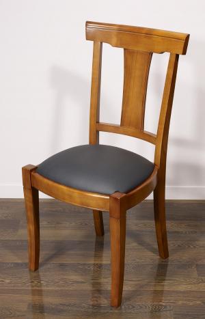 Chaise Lou  en Merisier Massif de style Louis Philippe