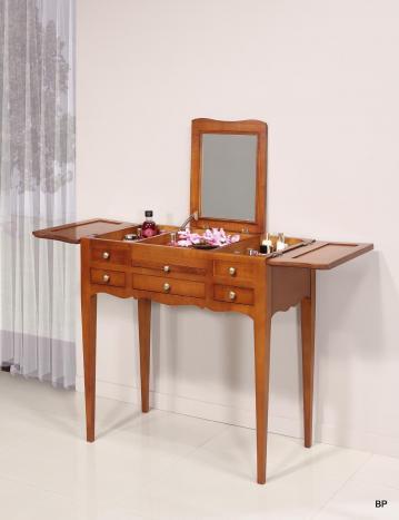 Table de toilette ou Coiffeuse   en merisier de style Louis Philippe