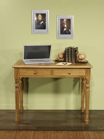 Table à écrire 2 tiroirs  en Chêne de style Louis Philippe Largeur 100
