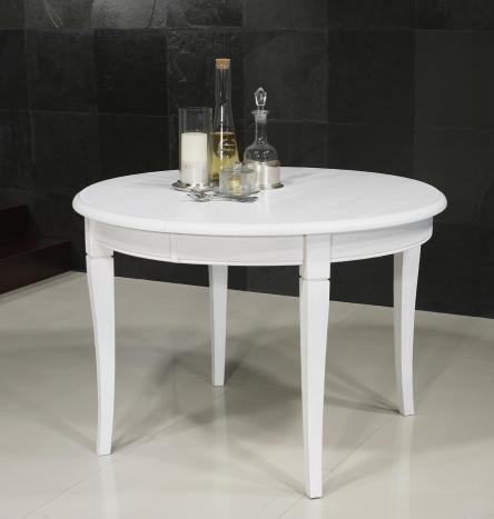 Table ronde   en Chêne massif de style Louis philippe DIAMETRE 110