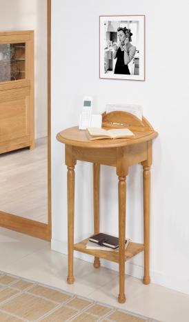 Table  Téléphone    en Chêne de style Louis Philippe