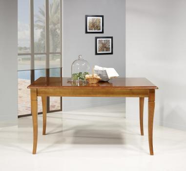 Table de repas Emeline  en Merisier Massif de style Louis Philippe 140x100