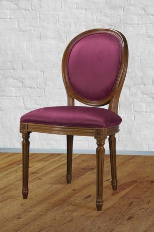 Chaise Emeline  en Merisier Massif de style Louis XVI