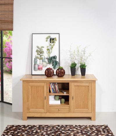 Meuble 2 portes nichet et tiroir  en Chêne Massif de style Campagne