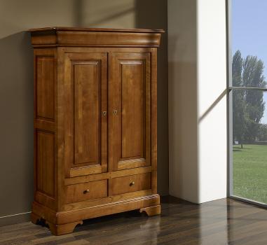Bassette 2 portes 3 tiroirs  en Merisier Massif de style Louis Philippe