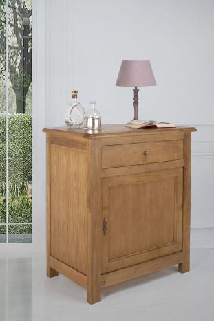 Confiturier1 porte 1 tiroir Yann  en Chêne de style campagnard SEULEMENT 1 DISPONIBLE
