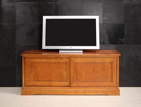 Meubles TV  2 portes coulissantes en MERISIER de style Directoire