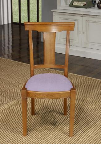 Chaise Lou  en Merisier Massif de style Louis Philippe  Tissu Ameublement