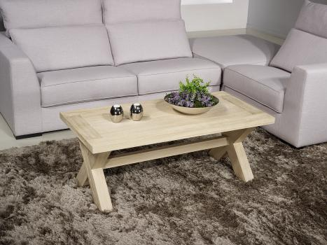 Table basse rectangulaire Jules  en chêne de style Campagnard Finition Chêne Brossé