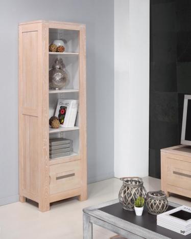 Bibliothèque contemporaine Adriana réalisée en chêne 3 étagères et 1 porte dans le bas BONNE AFFAIRE 1 disponible