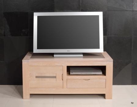 Meuble TV Adriana  en chêne avec 1 porte et 1 tiroir Ligne Contemporaine BONNE AFFAIRE 1 DISPONIBLE