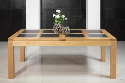 Table de repas rectangulaire 200X100 Mathis réalisée en Chêne Ligne Contemporaine