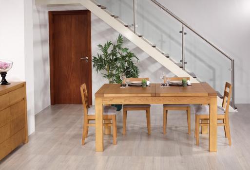 Table de repas rectangulaire 160X100 Suzanne  en Frêne Ligne Contemporaine SEULEMENT 1 DISPONIBLE (celle de la photographie)