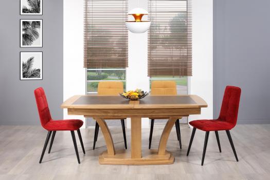 Table de repas Contemporaine 180x110  en Chêne massif avec céramique SEULEMENT 1 DISPONIBLE