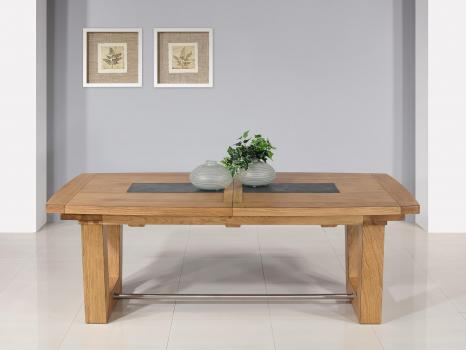 Table rectangulaire  220x100  en Chêne Massif 4 allonges de 40 cm CERAMIQUE