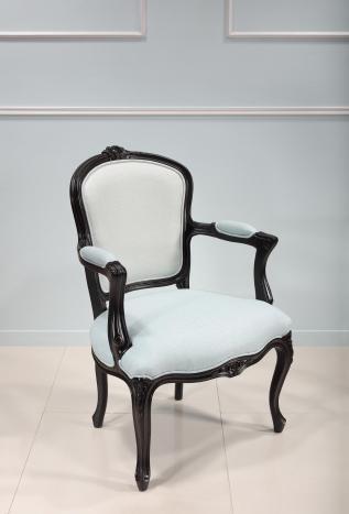 Bergère de style Louis XV  en hêtre massif