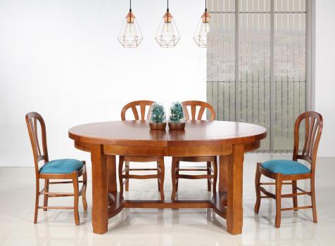 Table de ferme ovale Dora réalisée en Merisier Massif de style Campagnard 170*110 SEULEMENT 1 DISPONIBLE