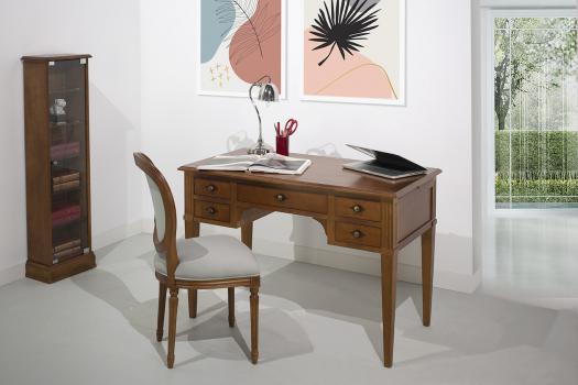 Bureau 5 tiroirs Julia  réalisé en merisier massif de style Directoire Longueur 120 cm