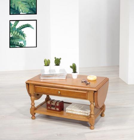 Table basse à volets Jean réalisée en Chêne massif de style Louis Philippe