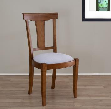 Chaise Lou  en Merisier Massif de style Louis Philippe  Tissu d'ameublement