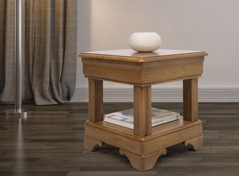 Bout de canapé ou Table d'appoint   en chêne de style Louis Philippe Finition Chêne doré Patine Antiquaire (léger vieillissement du bois)