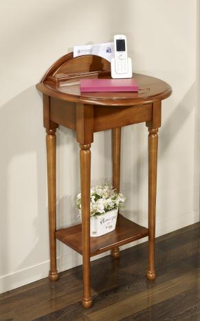 Table Téléphone -Amélie  en Merisier de style Louis Philippe