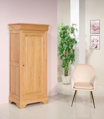 Bonnetière 1 porte  en Chêne Massif de style Louis Philippe Finition Chêne naturel SEULEMENT 1 DISPONIBLE