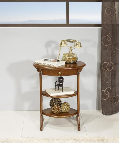 Gueridon Oval Nicolas réalisé en Chêne Massif de style Louis Philippe