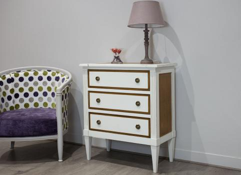 Commode Blandine  en merisier de style Directoire Finition BI-COLOR
