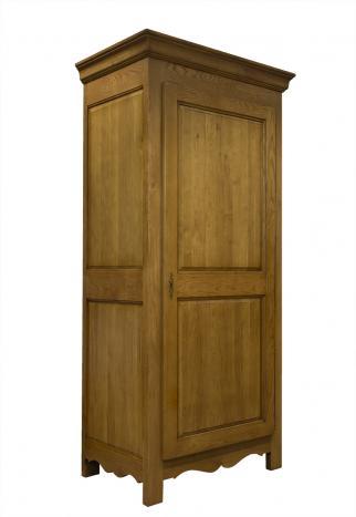 Bonnetière 1 porte 1 tiroir  en Chêne Massif de style campagnard Finition Chêne doré SEULEMENT 1 DISPONIBLE