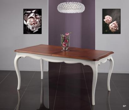 Table rectangulaire 180*100 Mila  en merisier de style Louis Philippe 1 allonge de 60 cm